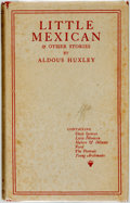 Books:Literature 1900-up, Aldous Huxley. Little Mexican & Other Stories. London:Chatto & Windus, 1924....