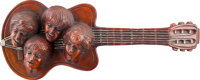 Beatles Decorative Carved Wood Guitar (Germany,1960s)