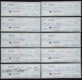 Golf Collectibles:Autographs, Sam Snead Signed Checks Lot of 10. ...