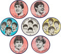 Music Memorabilia:Memorabilia, Beatles Group of Seven Vintage Flasher Buttons (US, 1964)....