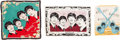 Music Memorabilia:Memorabilia, Beatles Vintage Scarf, Tea Towel, and Pillowcase (UK and Holland,circa 1964). ...