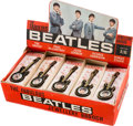 Music Memorabilia:Memorabilia, Beatles Guitar Brooches, Complete Set With Original Display Box By Invicta Plastics (UK, 1964)....
