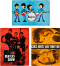 Music Memorabilia:Autographs and Signed Items, Beatles Collection of Three Vintage Tour Programs (UK, 1963-65)....