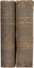Books:Americana & American History, [American History]. Trial of Andrew Johnson, President of the United States, Before the Senate of the United States, on ... (Total: 2 Items)