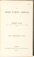 Books:Literature Pre-1900, Charles Lever. The Dodd Family Abroad. London: Chapman and Hall, 1854....