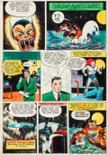 "Original Comic Art:Panel Pages, Bob Wood Daredevil Comics #10 The Claw ""Death to theAllies!"" Page 4 Hand-Colored Original Art (Lev Gleason, 1942)..."