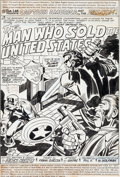 Original Comic Art:Splash Pages, Jack Kirby and Frank Giacoia Captain America #199 SplashPage 1 Original Art (Marvel, 1976)....