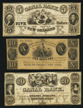 Obsoletes By State:Louisiana, New Orleans, LA- New Orleans Canal and Banking Company $5; $10; $20 18__ Remainders G12a; G84; G34a. ... (Total: 3 notes)