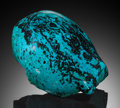 Lapidary Art:Carvings, Polished Chrysocolla. Bagdad Copper Mine, Yavapai County,Arizona. ...