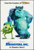 """Movie Posters:Animation, Monsters, Inc. (Buena Vista, 2001). One Sheet (27"""" X 40"""") DS Advance. Animation.. ..."""