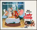 "Movie Posters:Animation, Lady and the Tramp (Buena Vista, R-1980). Half Sheet (22"" X 28"").Animation.. ..."