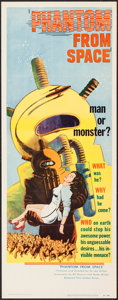 "Movie Posters:Science Fiction, Phantom from Space (United Artists, 1953). Insert (14"" X 36"").Science Fiction.. ..."