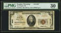 National Bank Notes:Wyoming, Douglas, WY - $20 1929 Ty. 2 The Douglas NB Ch. # 8087. ...