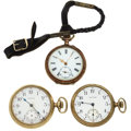 Timepieces:Pocket (post 1900), Three Open Face 12 Size Pocket Watches Runners. ... (Total: 3 Items)