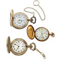 Timepieces:Pocket (post 1900), Le Rochelle, Milan & 14k Elgin Hunter Case Pocket Watches. ...(Total: 3 Items)