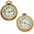 Timepieces:Pocket (post 1900), Two Hamilton 21 Jewel 992 B Pocket Watches. ... (Total: 2 Items)