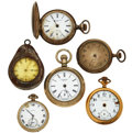 Timepieces:Pocket (post 1900), A Lot Of Six Pocket Watches For Parts Or Repair Most Likely Parts.... (Total: 6 Items)
