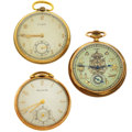 Timepieces:Pocket (post 1900), Three Runners, One With Masonic Dial. ... (Total: 3 Items)