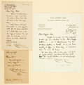 Autographs:Artists, Walter Crane, English illustrator (1845 - 1915). Group of Three Autograph Letters Signed. Dated 1903 - 1906. ...