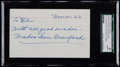 Autographs:Index Cards, 1966 Wahoo Sam Crawford Signed Index Card, SGC Authentic....