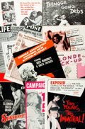 Miscellaneous:Brochures, [Sexploitation Cinema]. Collection of Ten Press Books and CampaignManuals. Titles include: The Blonde Pick-Up; Sensuali...