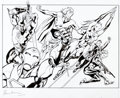 Original Comic Art:Covers, Bryan Hitch The Hitchfactory: Rough and Refined CoverOriginal Art and Signed Limited Edition Book #100/500 Group ...(Total: 2 Items)