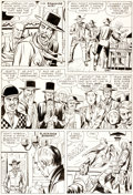 "Original Comic Art:Panel Pages, Jack Kirby and Dick Ayers Rawhide Kid #20 ""Shoot-Out WithBlackjack Bordon!"" Page 6 Original Art (Marvel, 1961)...."