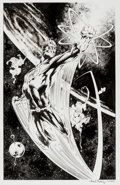 Original Comic Art:Splash Pages, Alan Davis and Paul Neary - Captain Atom Unpublished Pin-UpOriginal Art (undated)....