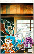 "Original Comic Art:Covers, Stan Sakai Usagi Yojimbo #27 ""A Town Called Hell"" LimitedEdition Hardback Cover Painting Original Art (Dark Horse..."
