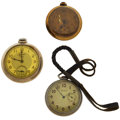 Timepieces:Pocket (post 1900), Two Elgin's & A Beacon Open Face Pocket Watches For Parts OrRepair. ... (Total: 3 Items)