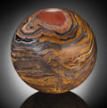 Lapidary Art:Eggs and Spheres, Classic Tiger Iron Sphere . Ord Ranges, Pilbara, WesternAustralia. ...