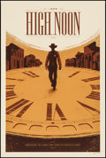 """Movie Posters:Western, High Noon by Tom Whalen (Mondo, 2015). Autographed & Numbered Limited Edition Screen Print Poster (24"""" X 36""""). Western.. ..."""