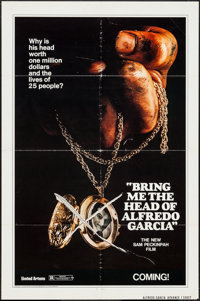 "Bring Me the Head of Alfredo Garcia (United Artists, 1974). One Sheet (27"" X 41"") Advance. Crime"