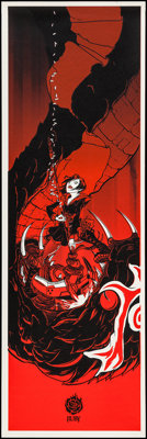 "RWBY by Joshua Budich (Rooster Teeth, 2012). Screen Print Poster (12"" X 36""). Animation"