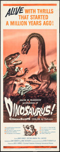 "Movie Posters:Science Fiction, Dinosaurus! (Universal International, 1960). Insert (14"" X 36"").Science Fiction.. ..."