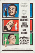 """Movie Posters:Science Fiction, The World, The Flesh and the Devil & Other Lot (MGM, 1959). One Sheets (2) (27"""" X 41""""). Science Fiction.. ... (Total: 2 Items)"""
