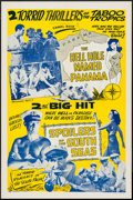 "Movie Posters:Adventure, The Hell Hole Named Panama/The Spoilers of the South Seas Combo(R-1940s). One Sheet (27"" X 41""). Adventure.. ..."