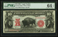 Large Size:Legal Tender Notes, Fr. 121 $10 1901 Legal Tender Mule PMG Choice Uncirculated 64 EPQ.....