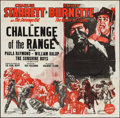"""Movie Posters:Western, Challenge of the Range (Columbia, 1949). Six Sheet (79"""" X 79.5"""").Western.. ..."""