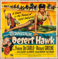 "Movie Posters:Adventure, The Desert Hawk (Universal International, 1950). Six Sheet (78"" X79""). Adventure.. ..."