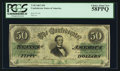 Confederate Notes:1862 Issues, T50 $50 1862 PF-7 Cr. 356.. ...