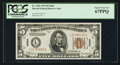 Small Size:World War II Emergency Notes, Fr. 2301 $5 1934 Mule Hawaii Federal Reserve Note. PCGS Superb GemNew 67PPQ.. ...