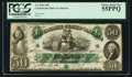 "Confederate Notes:1861 Issues, Manuscript Endorsement ""Ferdinand Molloy"" T6 $50 1861 PF-1 Cr. 6.. ..."