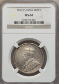 India:British India, India: George V Rupee 1912(c) MS64 NGC,...