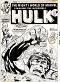 Original Comic Art:Covers, Herb Trimpe and Frank Giacoia Mighty World of Marvel #57Cover Original Art (Marvel UK, 1973)....
