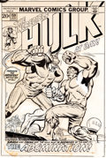 Original Comic Art:Miscellaneous, Herb Trimpe Incredible Hulk #159 Cover Production Art(Marvel, 1973)....