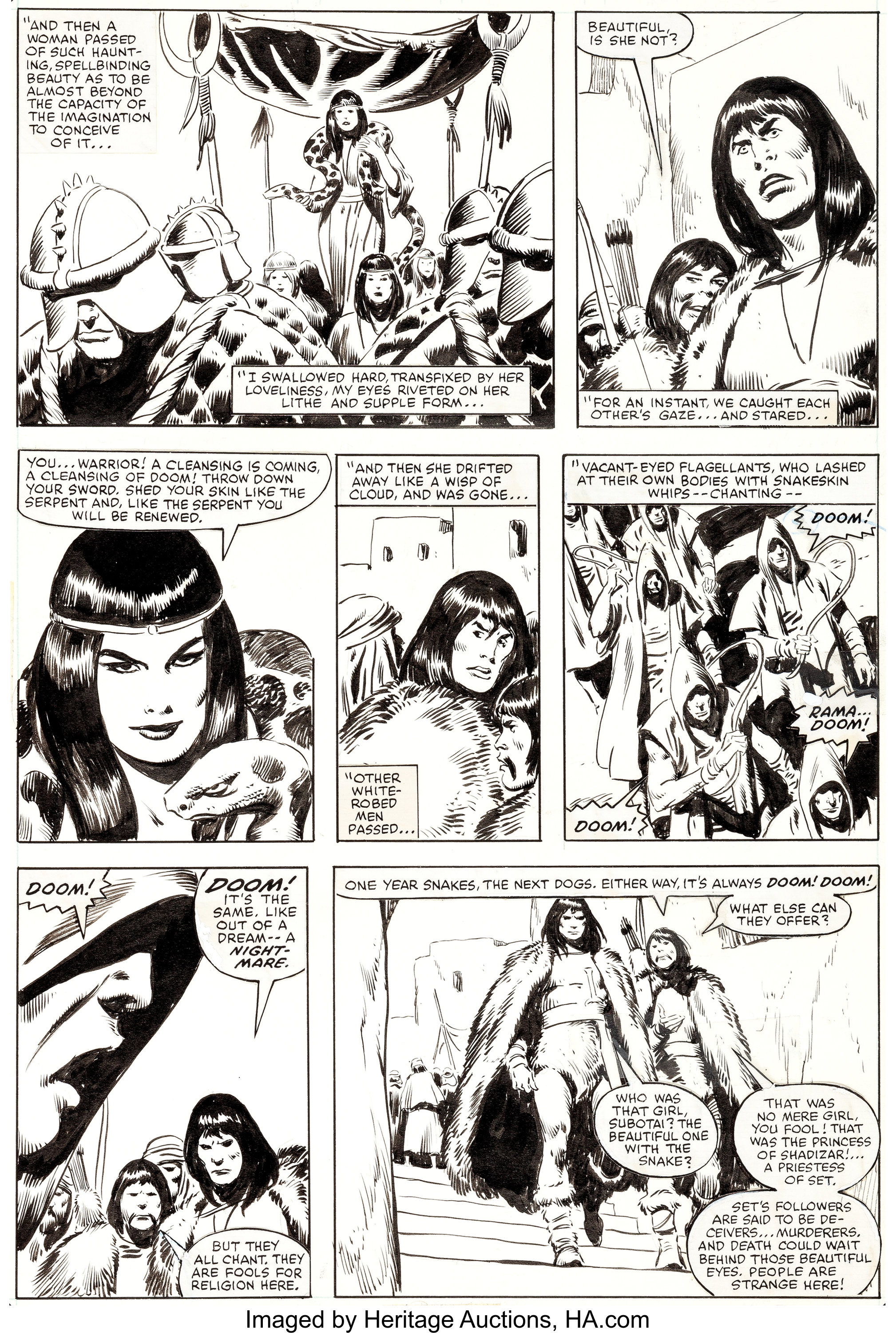 John Buscema Conan The Barbarian Movie Special 1 Page 16