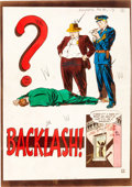 "Original Comic Art:Miscellaneous, EC Crime SuspenStories #4 ""Backlash!"" Complete StorySilverprint Proof Group (EC, 1951).... (Total: 8 Items)"
