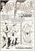 Original Comic Art:Covers, Curt Swan and George Klein Superboy #113 Cover Original Art (DC, 1964)....