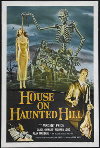 "House on Haunted Hill (Allied Artists, 1959). One Sheet (27"" X 41""). Horror. Directed by William Castle. Starr..."